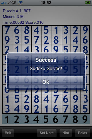 Screenshot Sudoku 20K